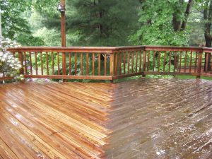 Power Washing Cedar Deck